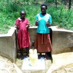 The Water Project: Mungulu Community, Zikhungu Spring -  Pamela Atieno And Abigael Kasiti