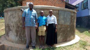 The Water Project:  Alex Shikokoti Franklin Kiwanuka And Field Officer Joan Were