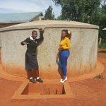 The Water Project: Evojo Secondary School -  Cynthia Avusha And Field Officer Faith Muthama