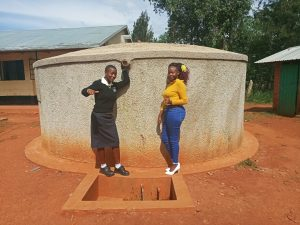 The Water Project:  Cynthia Avusha And Field Officer Faith Muthama