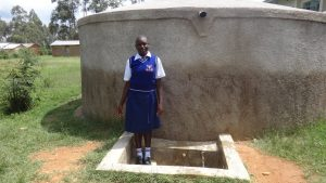 The Water Project:  Edah Lutomia At The Tank