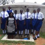 The Water Project: Matete Girls High School -  Karen Luseka And Students At The Tank