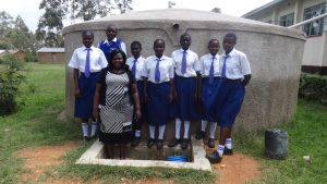 The Water Project:  Karen Luseka And Students At The Tank