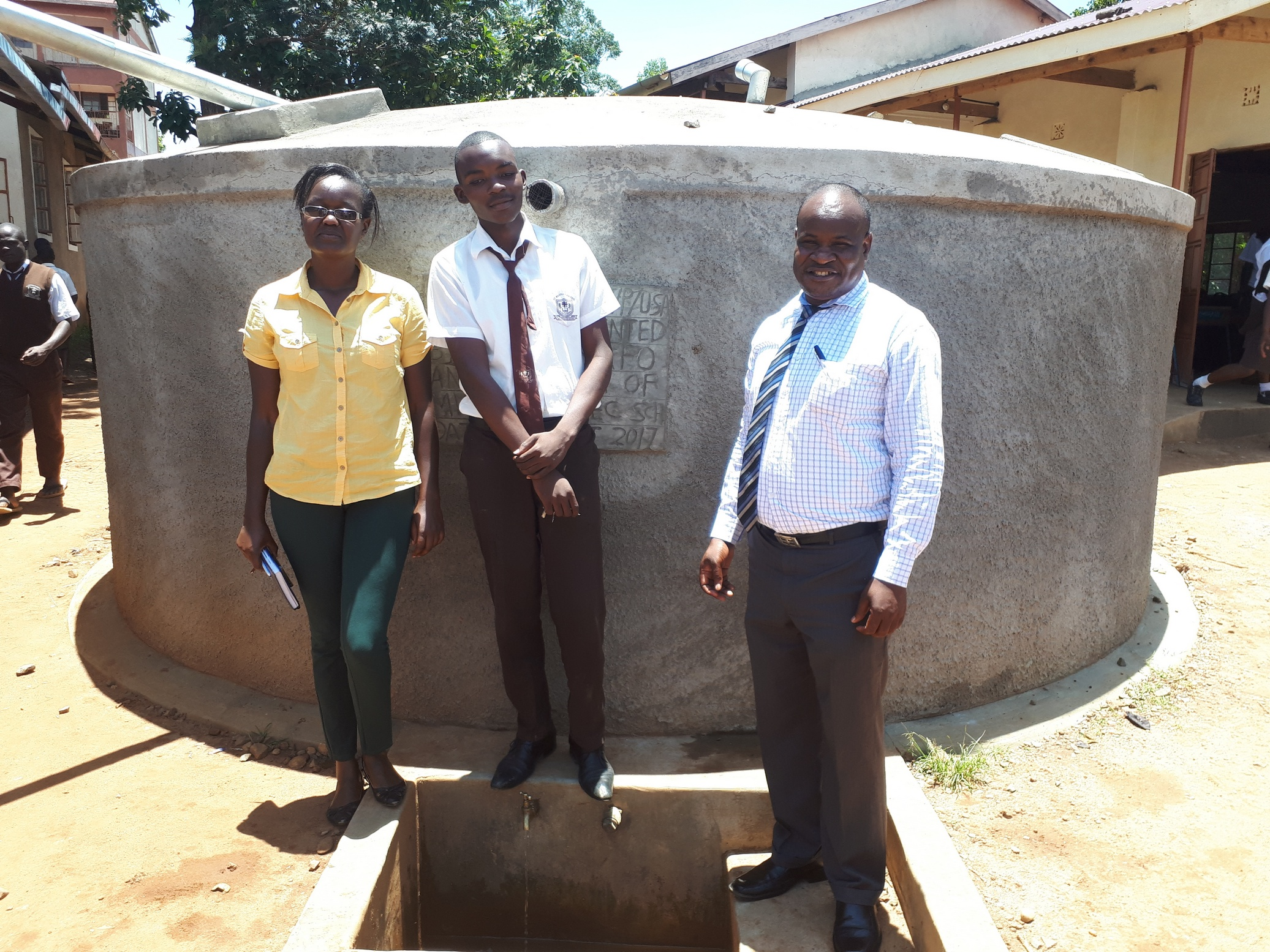 The Water Project : kenya4837-the-principal-mr-chrispinus-owino-and-the-student-kennedy-munyani