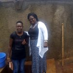 The Water Project: Ebubayi Secondary School -  Field Officer Lillian Achieng And Headteacher Veronica Onacha
