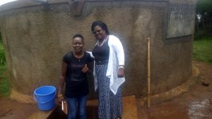 The Water Project:  Field Officer Lillian Achieng And Headteacher Veronica Onacha