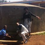 The Water Project: Mumias Central Primary School -  John Barasa Francis Owamu And Field Officer Karen Maruti