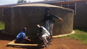 The Water Project:  John Barasa Francis Owamu And Field Officer Karen Maruti
