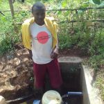 The Water Project: Ebuhando Community, Christopher Omasaba Spring -  Lai Baraka