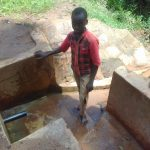 The Water Project: Lugango Community, Lugango Spring -  Derick Maraha
