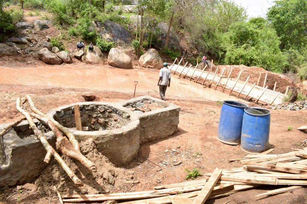 The Water Project : 1-kenya18209-well-progress