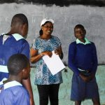 The Water Project: Mukunyuku RC Primary School -  Trainer Jacky And Jon Otembo