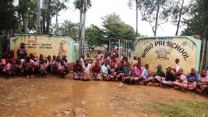 The Water Project:  Students In Front Of School