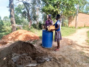 The Water Project:  Water To Mix Cement