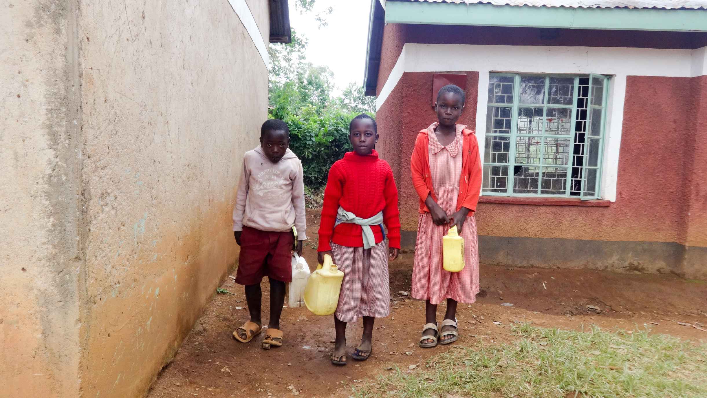The Water Project : 10-kenya19008-students-with-water-containers
