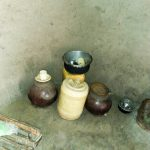 The Water Project: Shihingo Community, Mangweli Spring -  Typical Water Storage
