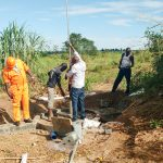 The Water Project: Nyakarongo Center Community -  Pump Installation