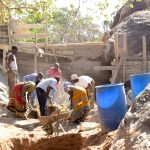 The Water Project: Ikuusya Community -  Sand Dam Construction