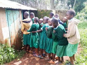 The Water Project:  Line For Latrine