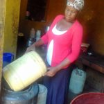 The Water Project: Mwichina Community, Matanyi Spring -  Home Water Storage