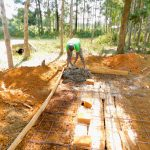 The Water Project: Mukunyuku RC Primary School -  Latrine Construction