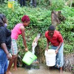 The Water Project: Bukhakunga Community, Khayati Spring -  Visiting Khayati Spring
