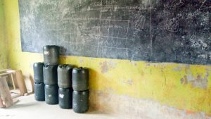 The Water Project:  Water Stored In Classroom