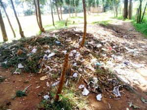 The Water Project:  Garbage Dump At The School