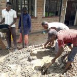 The Water Project: Kapsotik Primary School -  Mixing Cement