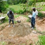 The Water Project: Bukhanga Community, Indangasi Spring -  Mixing Cement