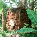 The Water Project: Sichinji Community, Makhatse Spring -  Mud Latrine