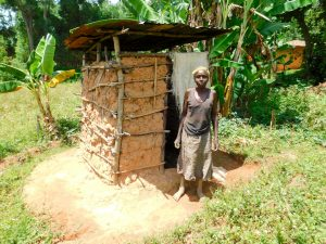 The Water Project:  Sinica Shatsala At Her Latrine