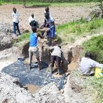 The Water Project: Luyeshe Community, Matolo Spring -  Laying The Foundation