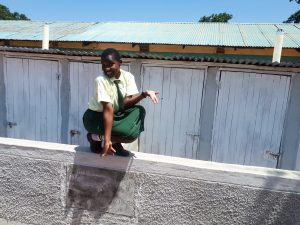 The Water Project:  Sharon Mundia At The New Latrines