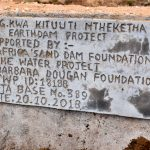 The Water Project: Kala Community -  Sand Dam Plaque