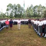 The Water Project: Ebubere Mixed Secondary School -  Morning Assembly