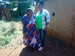 The Water Project:  An Elderly Woman And Jakclyne Chelagat