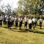 The Water Project: Ebubere Mixed Secondary School -  Students Running To Class