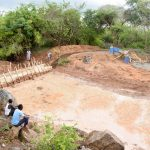 The Water Project: Katuluni Community B -  Construction Site Flooding