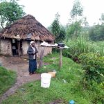 The Water Project: Bukhakunga Community, Khayati Spring -  Leonida Outside Her Home