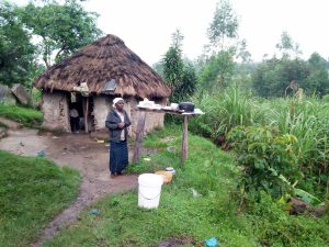 The Water Project:  Leonida Outside Her Home