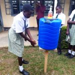 The Water Project: Precious School Kapsambo Secondary -  Handwashing Training