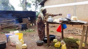 The Water Project:  School Cook And Water Containers