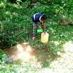 The Water Project: Rosterman Community, Kidiga Spring -  Fetching Water