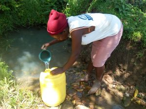 The Water Project:  Peninah Fetching Water