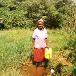 The Water Project: Sichinji Community, Makhatse Spring -  Lucy At The Spring