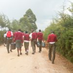 The Water Project: Kaimosi Demonstration Secondary School -  Going To Fetch Water
