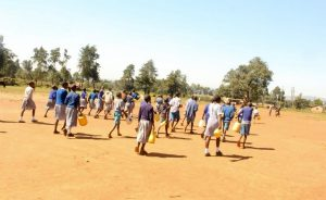 The Water Project:  Students With Water Containers