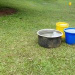 The Water Project: Ilala Community, Arnold Johnny Spring -  Water Collecting And Storage Containers
