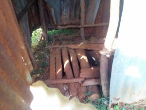 The Water Project:  Dangerous Wooden Latrine Floor